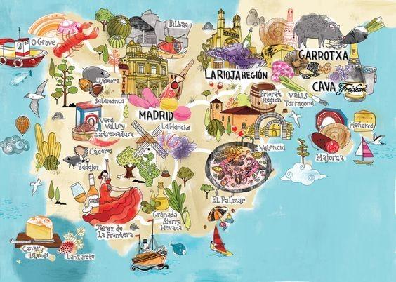 V rôznych regiónoch Španielska je typické rôzne jedlo