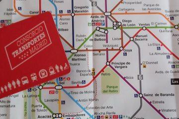mapa metra v Madride