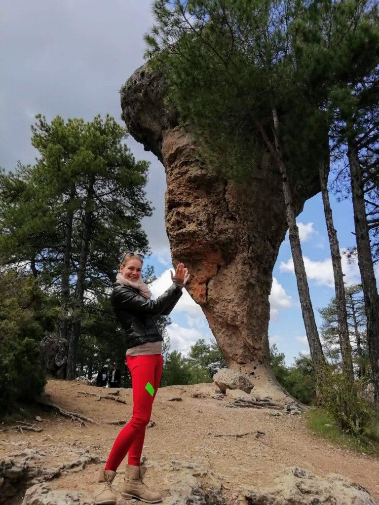 skala v tvare lieviku v Ciudad Encantada