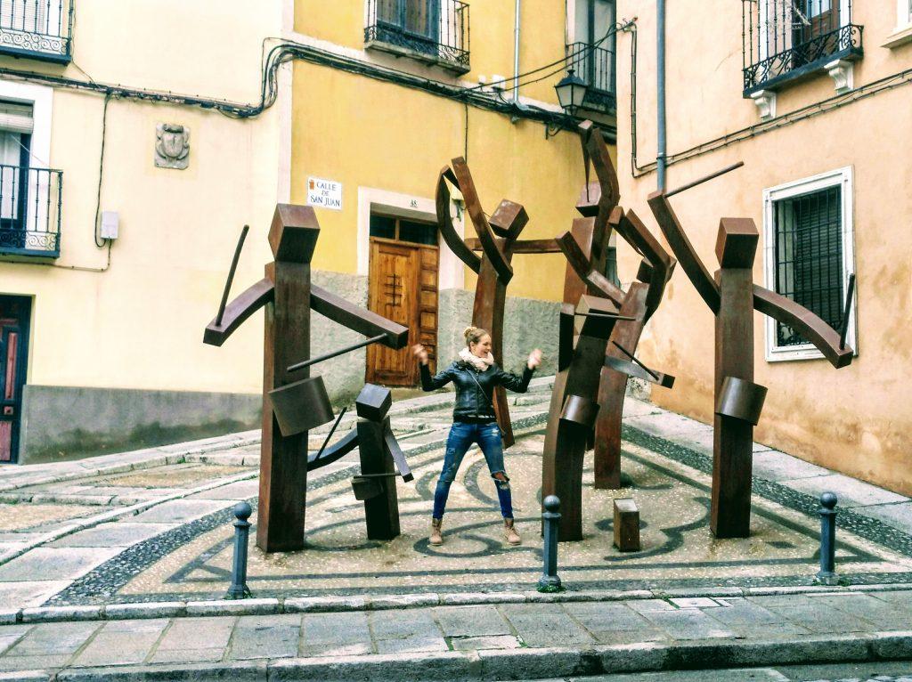 sochy v meste Cuenca