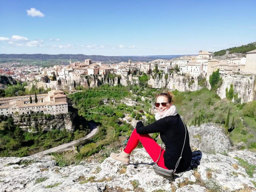 Výhľad na mesto Cucenca dve a pol hodiny od Madridu
