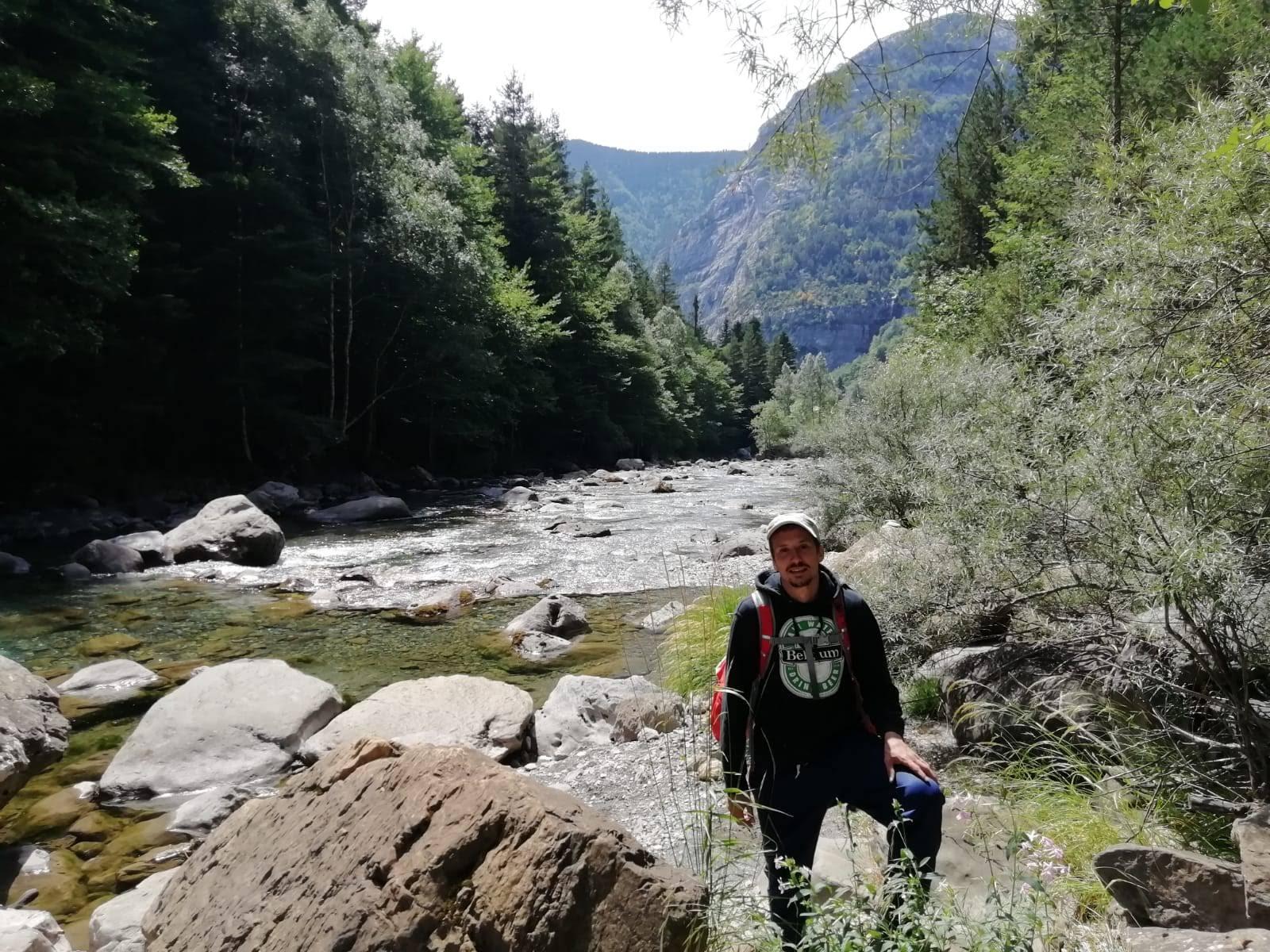 Rieka Ara v španielskych Pyrenejách