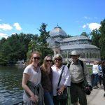 Krištáľový palác a jazierko v parku Retiro