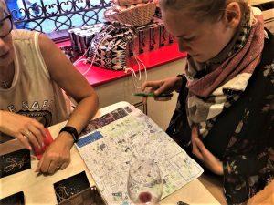 konzultácia s mapou Madridu