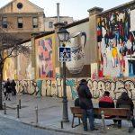 graffiti na budove La tabacalera