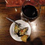 víno a slávka ako tapas