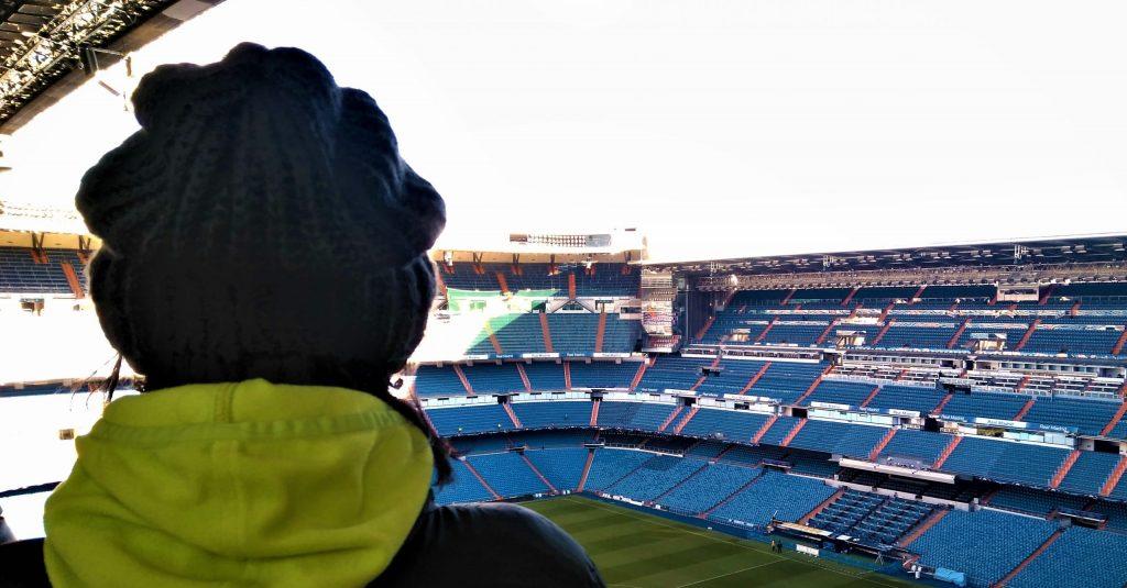 panoramatický výhľad vo vnútri štadióna santiago bernabeu
