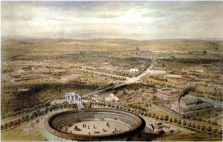 bývalá býčia aréna Puerta de Alcalá v Madride