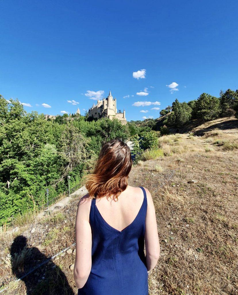 Výhľad na Alcázar z Mirador de la Pradera de San Marcos