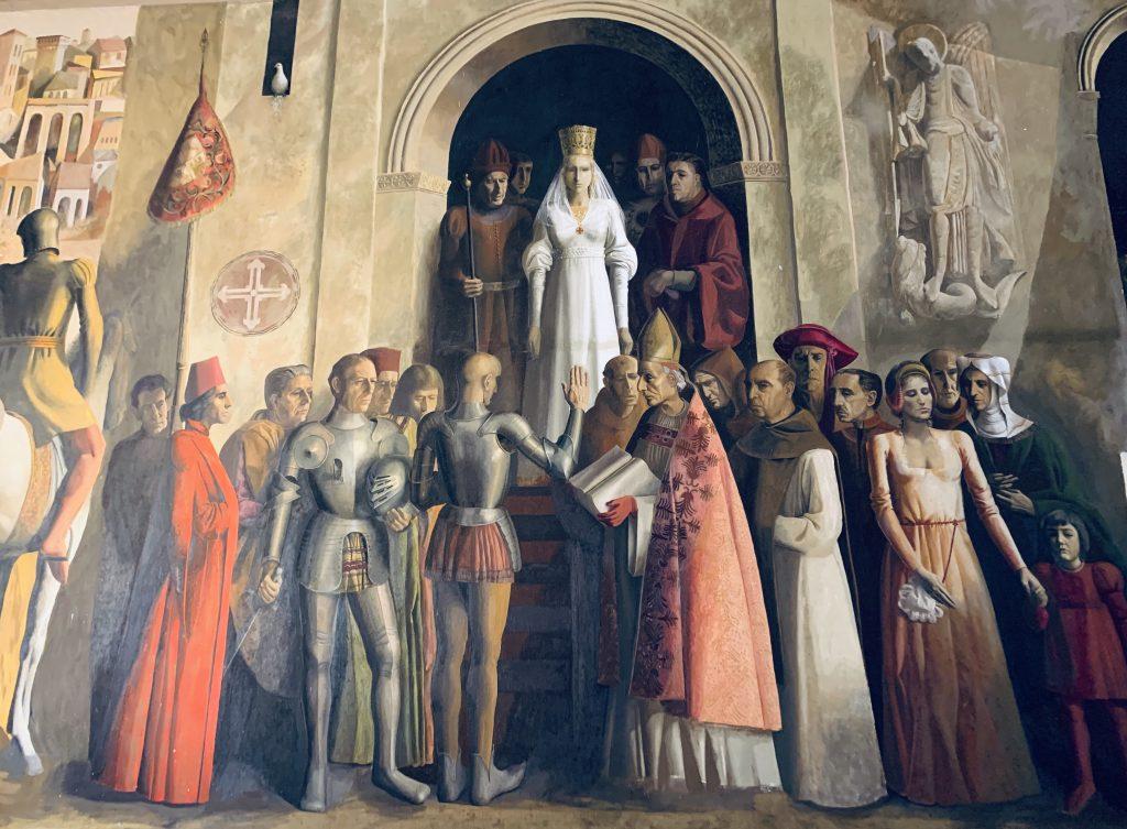 korunovácia Izabely I. v Segovii