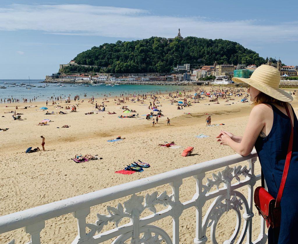 Pláž La Concha z promenády