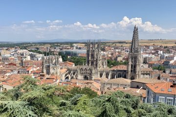 pohľad na Burgos z vyhliadky Mirador del Castillo