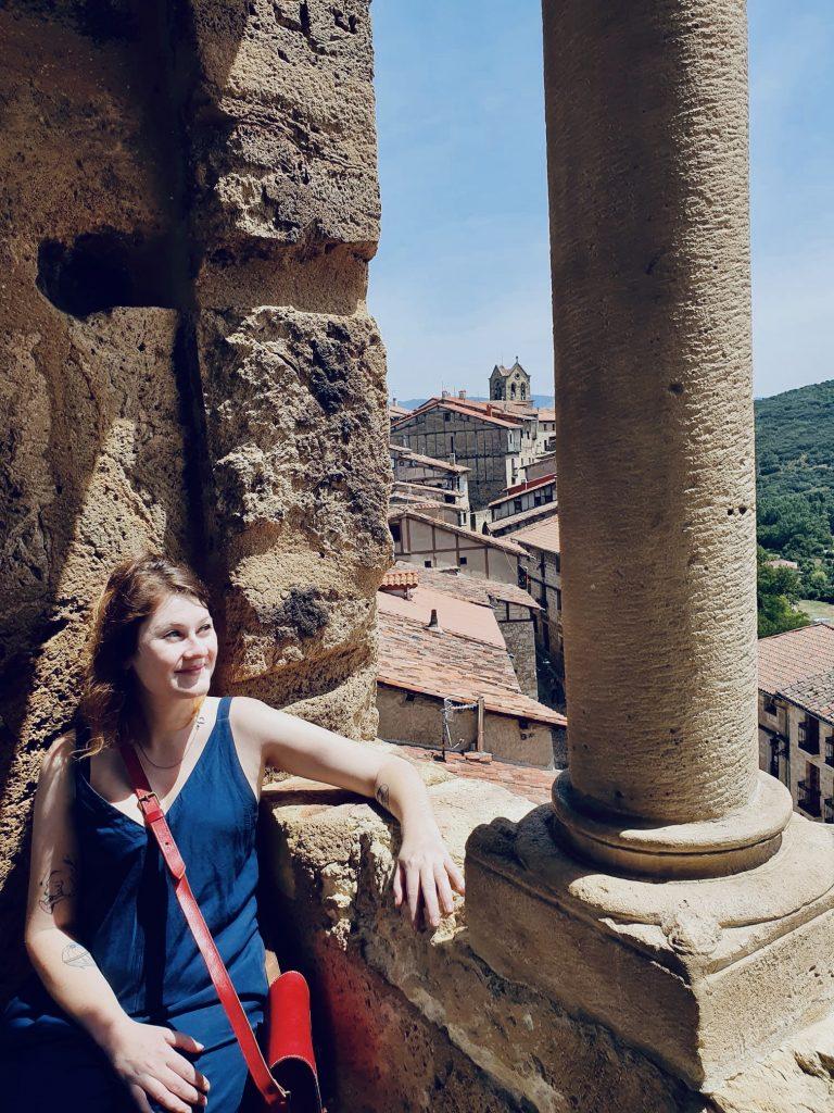 Na hrade vo Frías, Španielsko